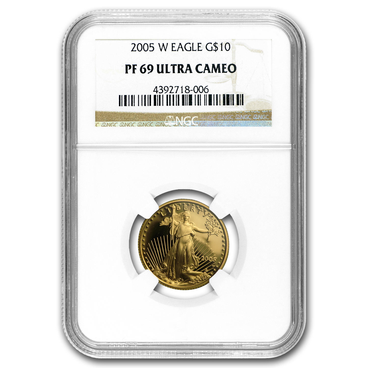 2005-W 4-Coin Proof Gold American Eagle Set PF-69 NGC